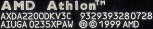 Original AMD Label
