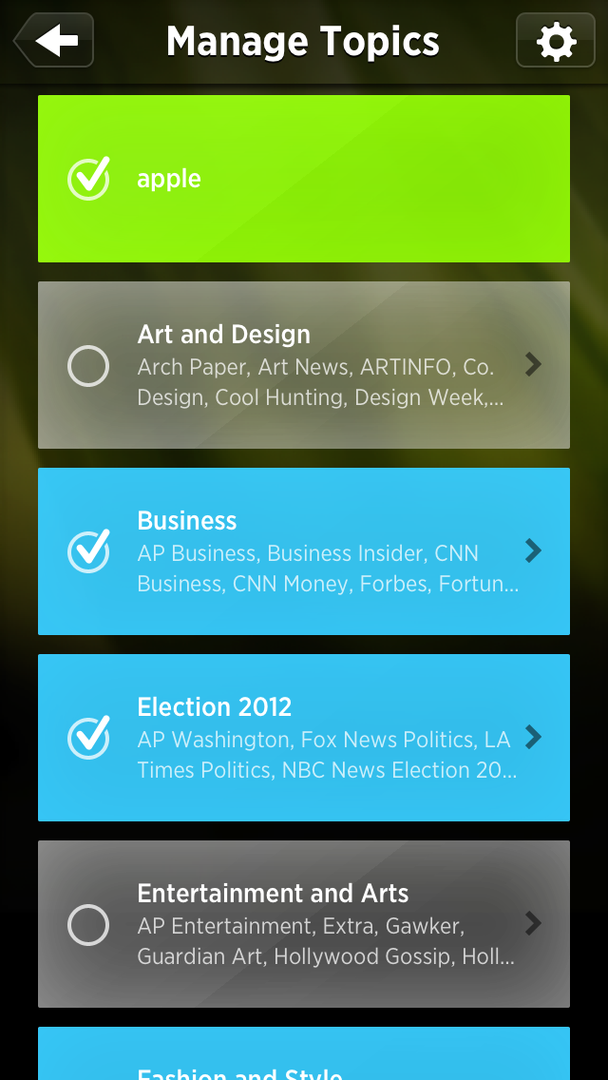 Auszüge aus der Summly-App