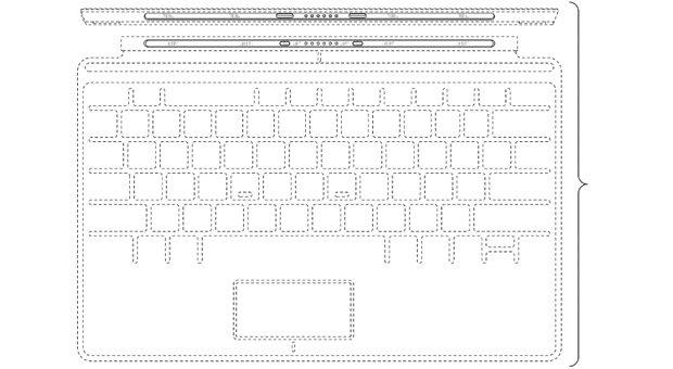 Design-Patent für Microsofts Touch Cover