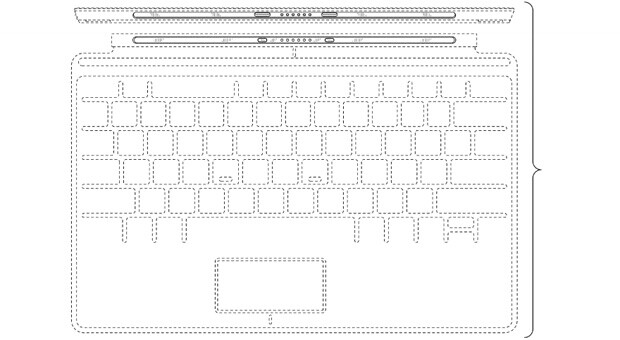 Design-Patent für Microsofts Touch Cover
