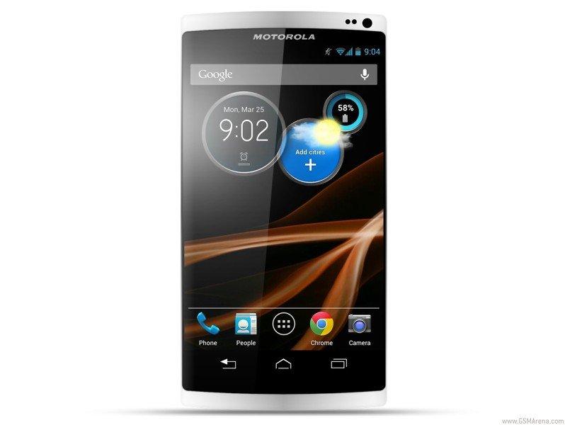 Computergrafik eines Motorola-Smartphones (X Phone?)