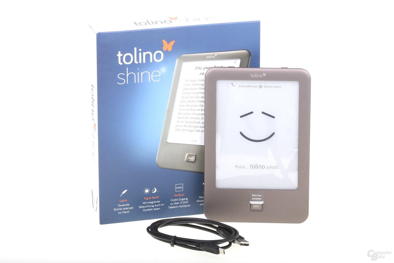 Tolino Shine – Verpackung und Inhalt