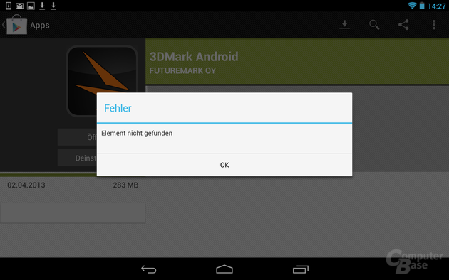 Fehler im Google Play Store