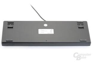 Rückseite der kompakten Tastatur