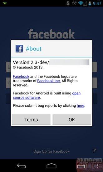 Mögliche Firmware des Facebook-Smartphones