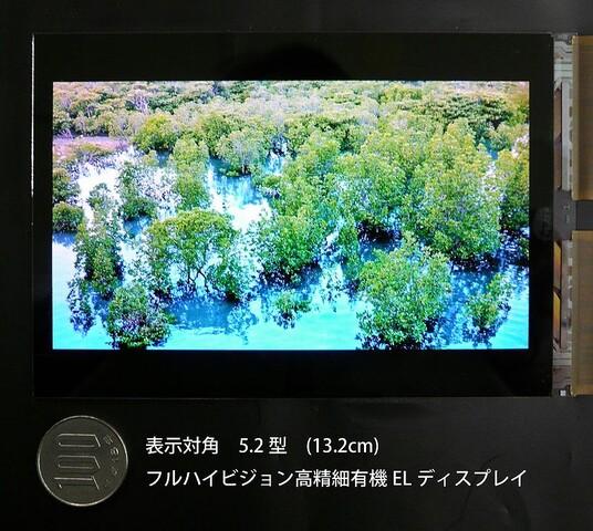 5,2 Zoll großes OLED-Display mit Full-HD-Auflösung