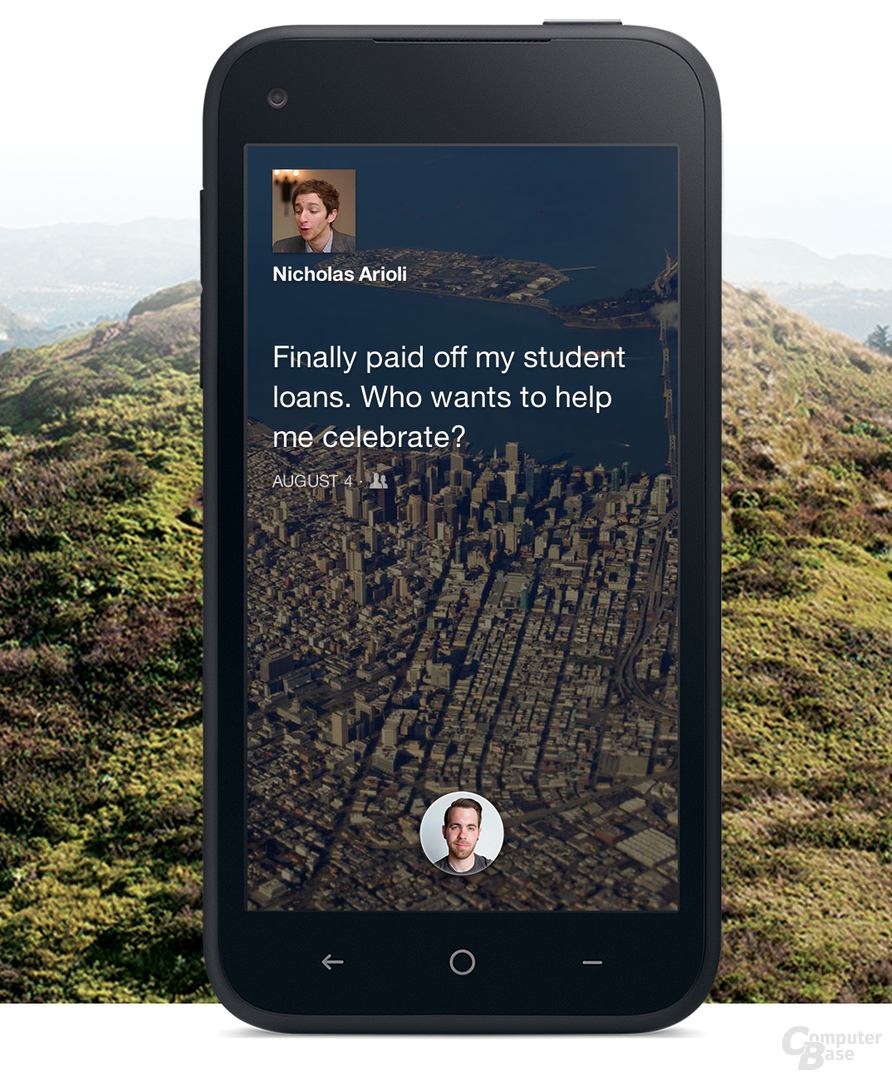 "Home-Screen von ""Facebook Home"""