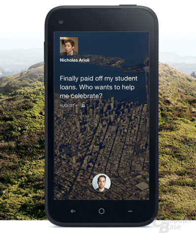 "Home-Screen von ""Facebook Home"""