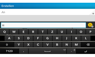 BlackBerry 10 OS auf dem BlackBerry Z10
