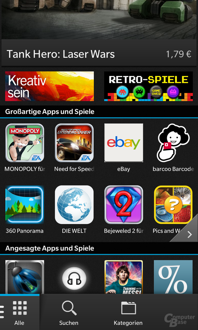 BlackBerry 10 OS auf dem BlackBerry Z10