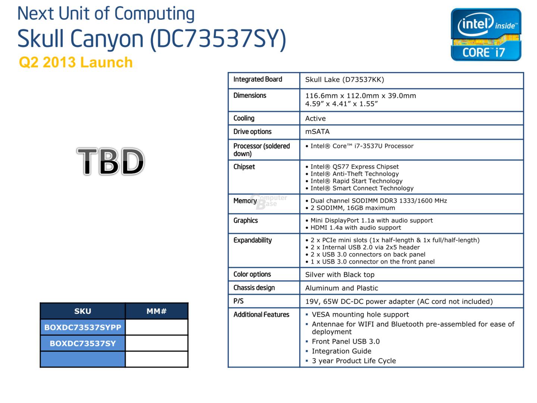 Intel NUC DC73537SY