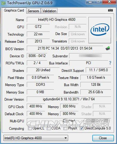 GPU-Z zeigt HD 4600 Grafik