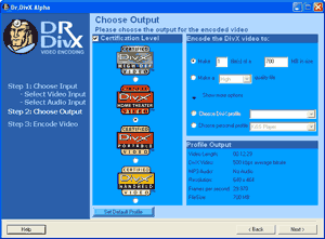 Dr. DivX Output