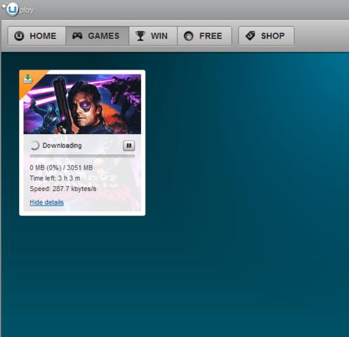 Download des unveröffentlichten Spiels über Uplay
