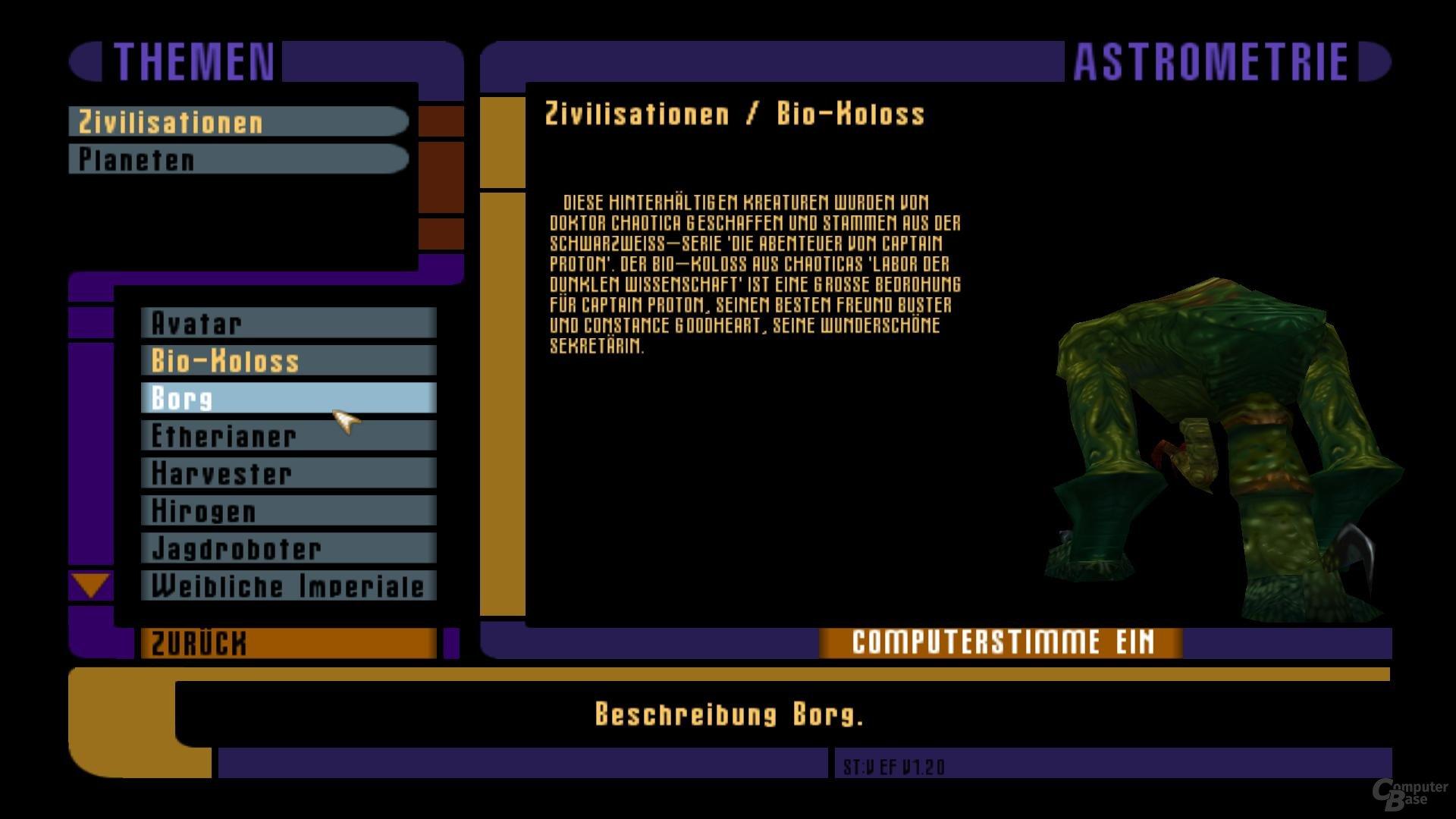Virtuelle Voyager (AddOn) – Hintergrundinformationen