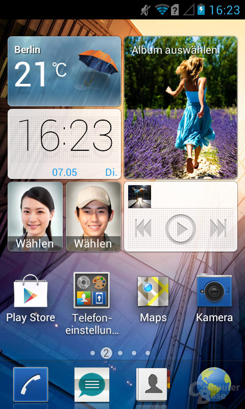 Huawei Ascend Y300 Oberfläche
