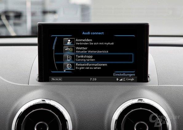 Audi Fahrzeug-App Tankstopp