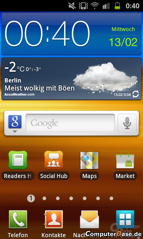 Android 2.3.6 Homescreen