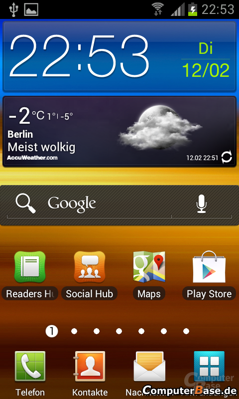 Android 4.0.4 Homescreen