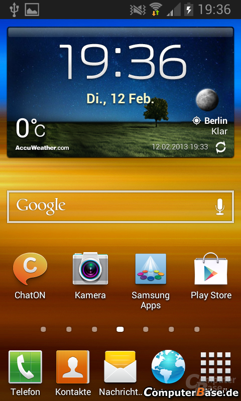 Android 4.1.2 Homescreen