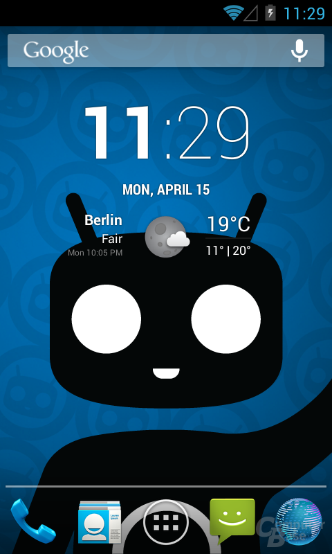Android 4.2.2 CM10.1 Homescreen