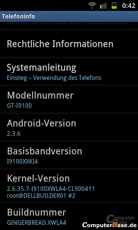 Android 2.3.6 ROM-Version