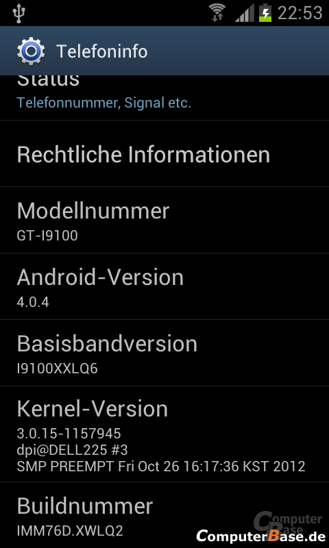 Android 4.0.4 ROM-Version
