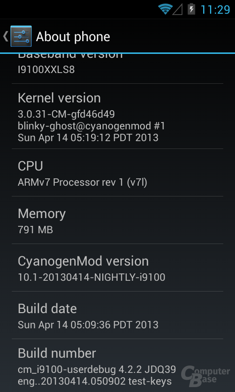 Android 4.2.2 CM10.1 ROM-Version