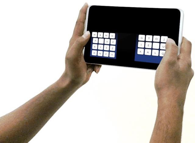 KALQ-Tastatur auf einem Tablet