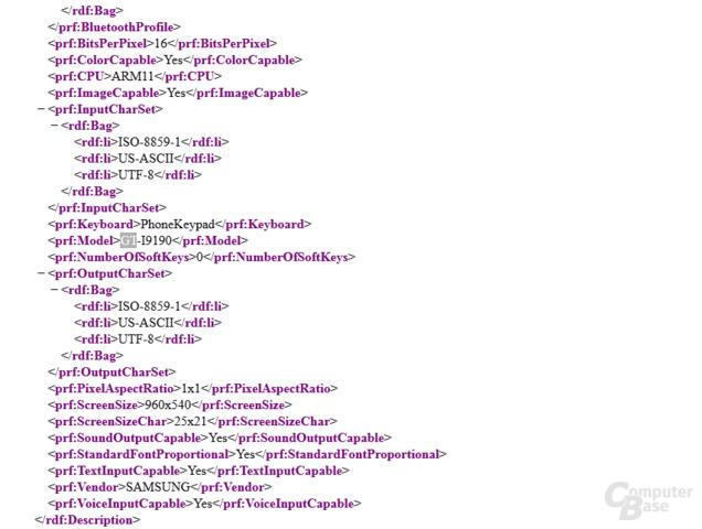 Hinweise im Quellcode