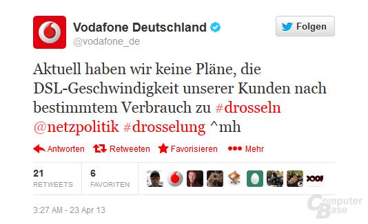 Vodafone-Statement