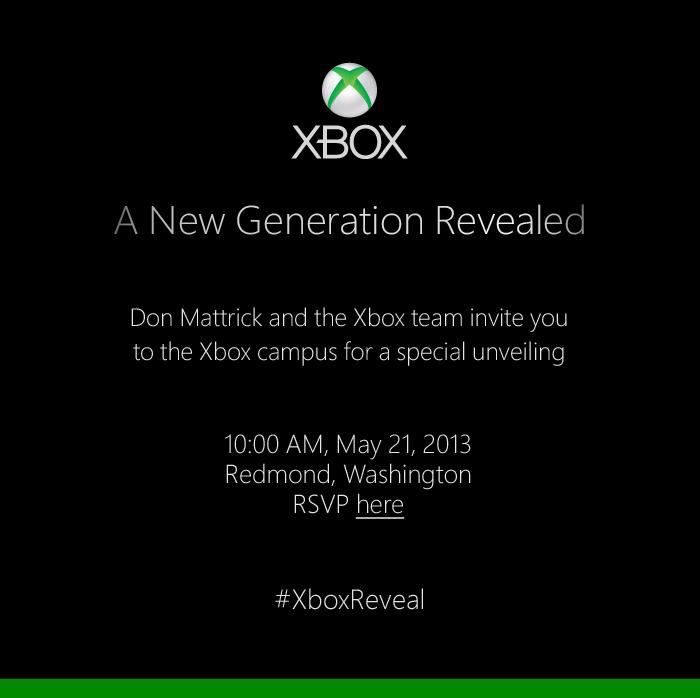 Einladung zur Enthüllung der neuen Xbox-Generation