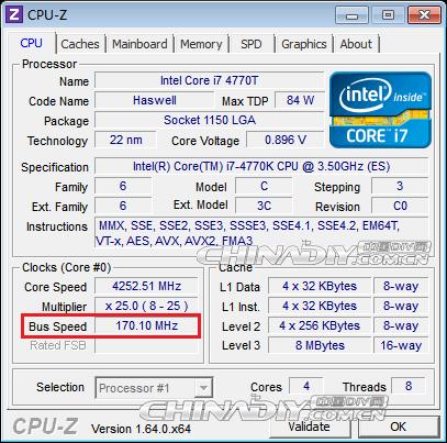 """""""Haswell""""-Prozessor mit BCLK von 170 MHz"""