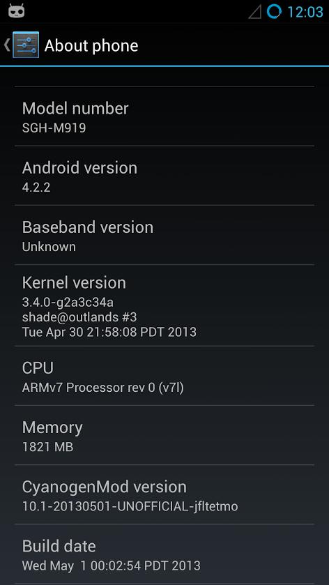 CyanogenMod für das Galaxy S4