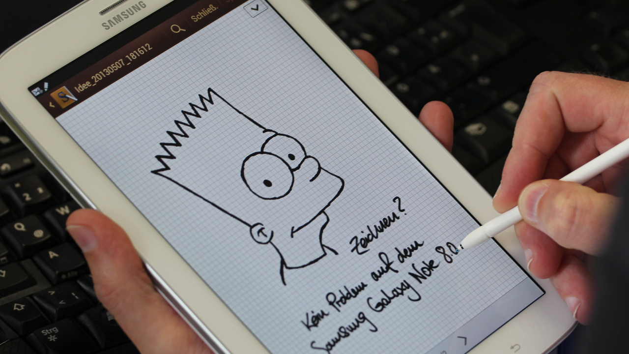 Samsung Galaxy Note 8.0 im Test: Das Telefon-Tablet mit Digitizer S Pen