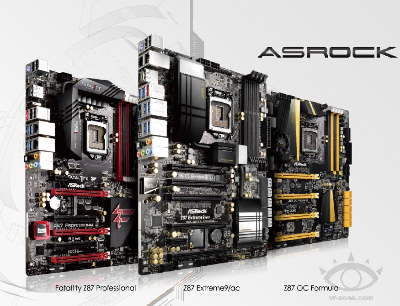 ASRock Z87 Extreme 9 + Fatal1ty + OC Formula