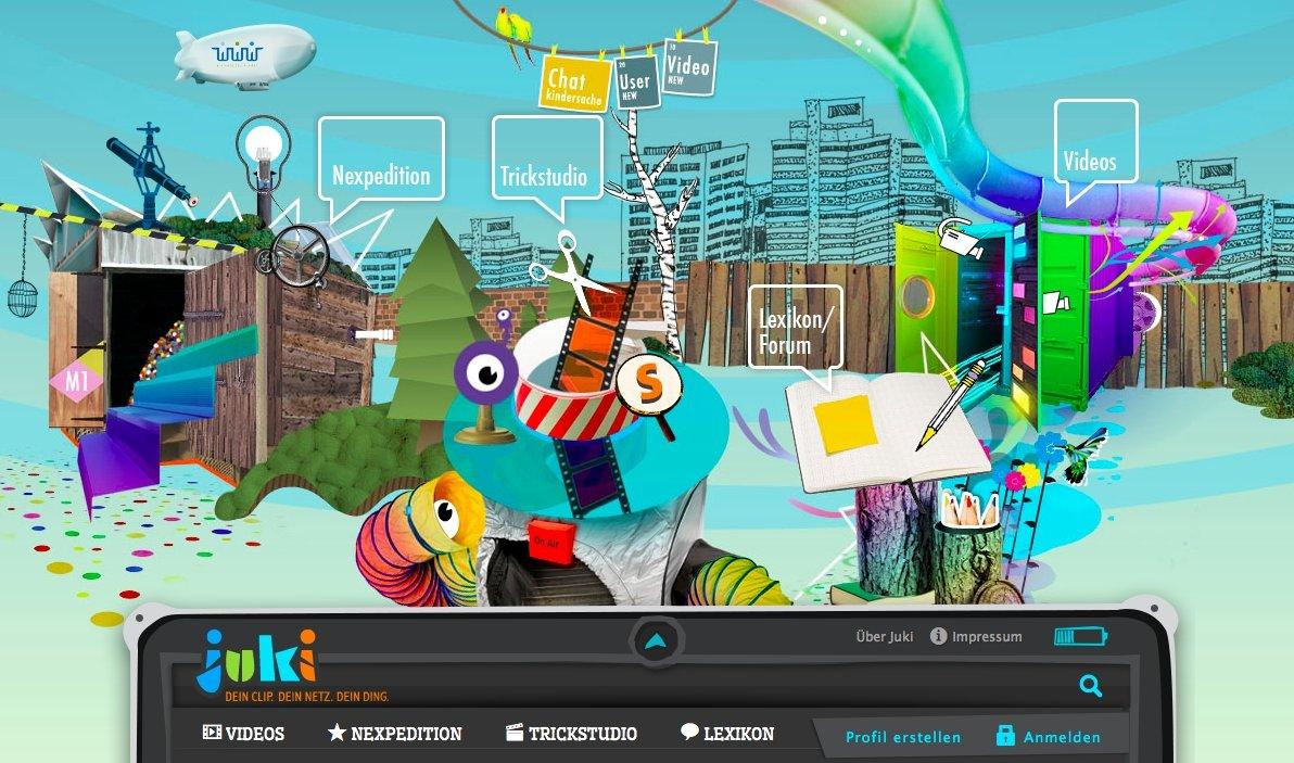 Startseite von Juki.de
