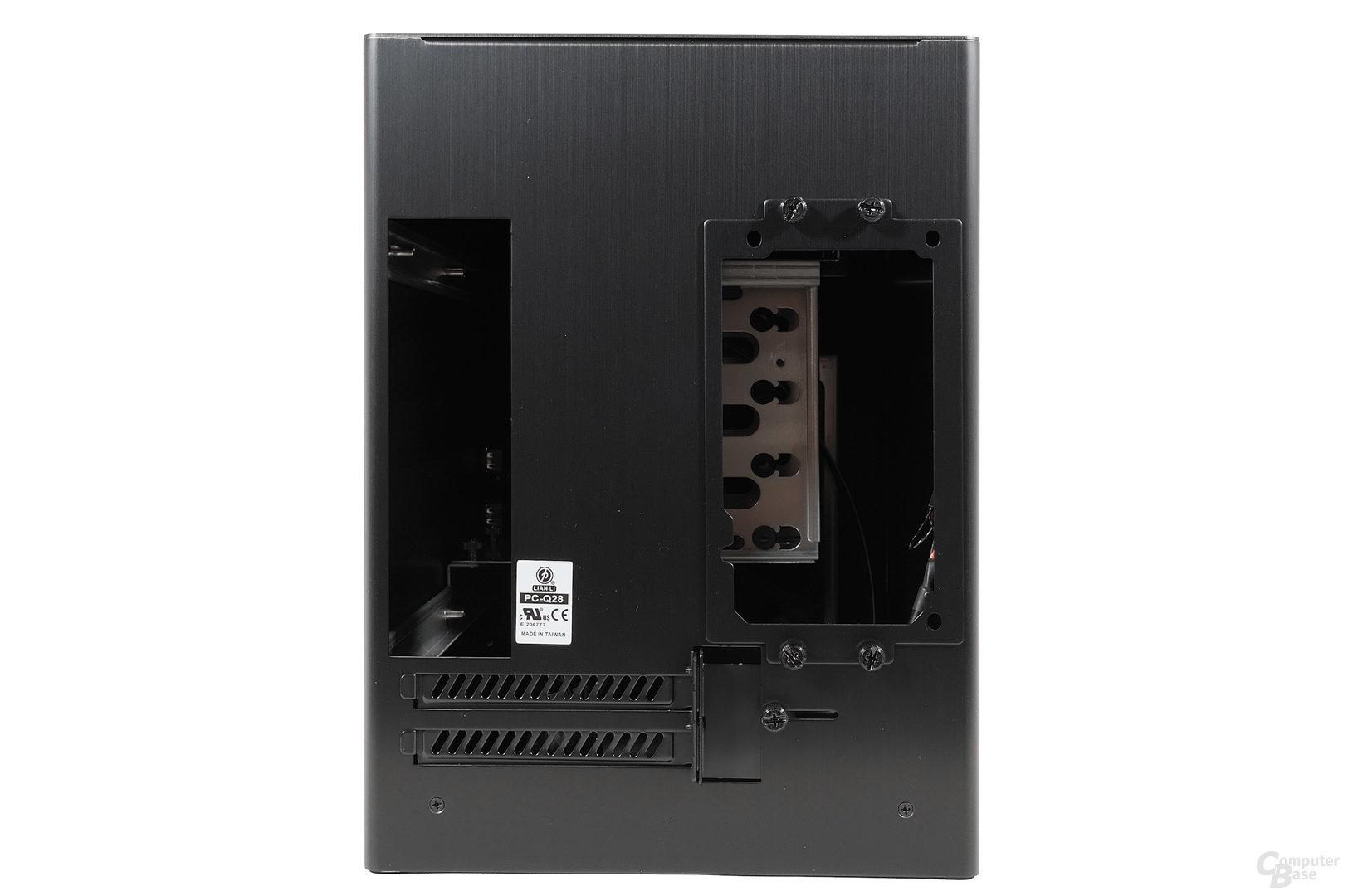 Lian Li PC-Q28 - Heckansicht