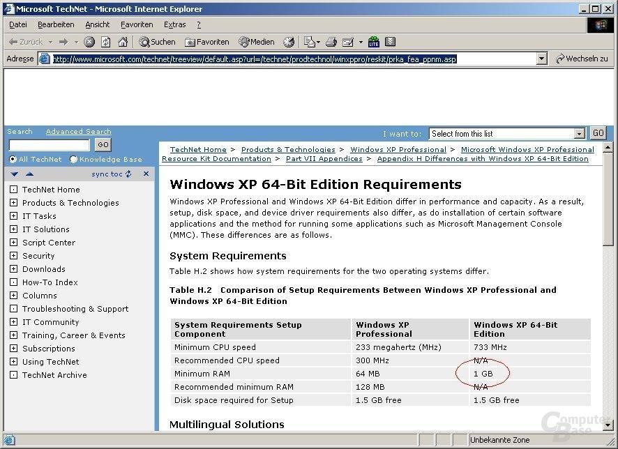 WindowsXP 64-Bit Edition