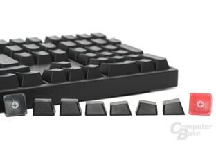 Keycaps aus beschichtetem ABS-Kunststoff