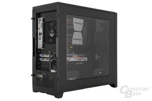Corsair Obsidian 350D - Testsystem seitlich