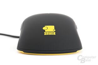 Mausrückseite mit aufgebrachtem Zowie-Logo