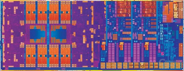 """""""Haswell""""-CPU mit zwei Kernen und GT3-Grafik (links)"""