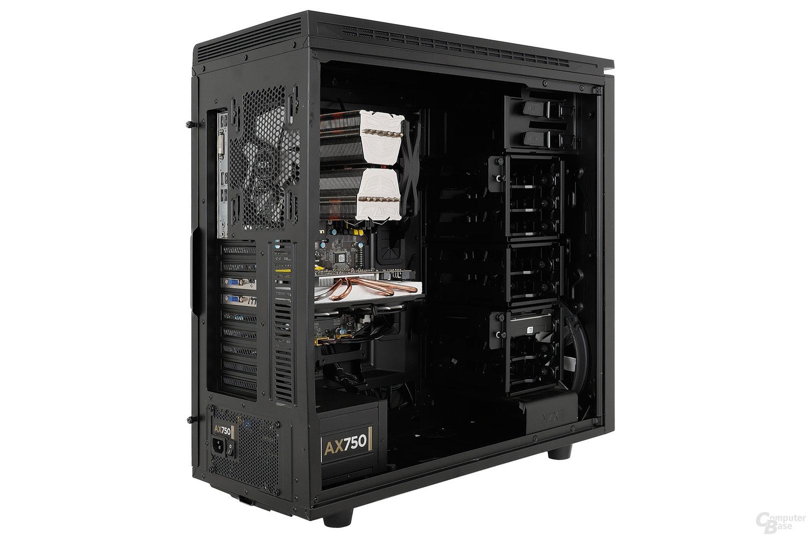 NZXT H630 - Testsystem seitlich