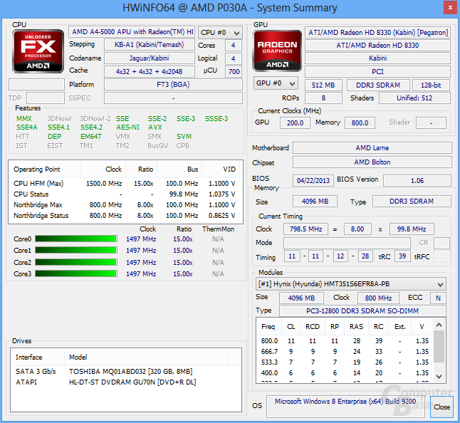 """AMD A4-5000 """"Kabini"""""""