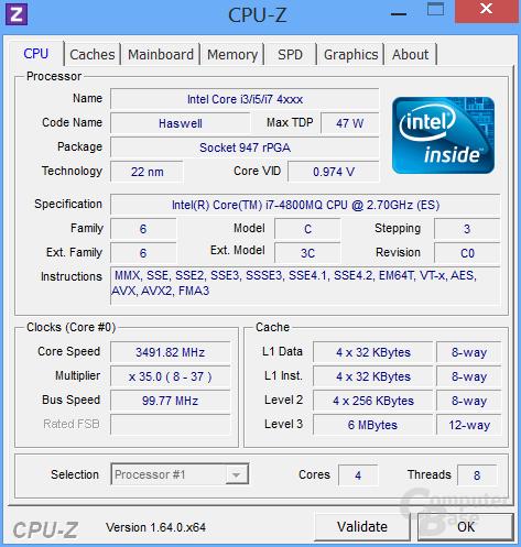 CPU-Z Core i7-4800MQ