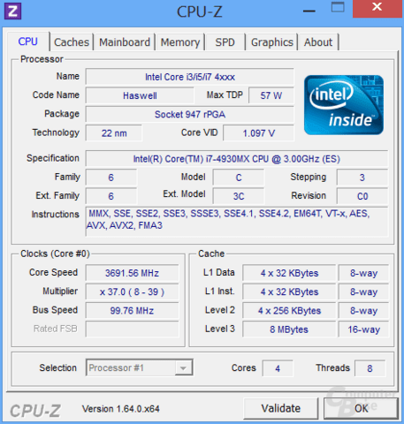 CPU-Z Core i7-4930MX