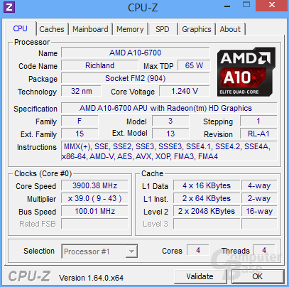 AMD A10-6700 undervoltet