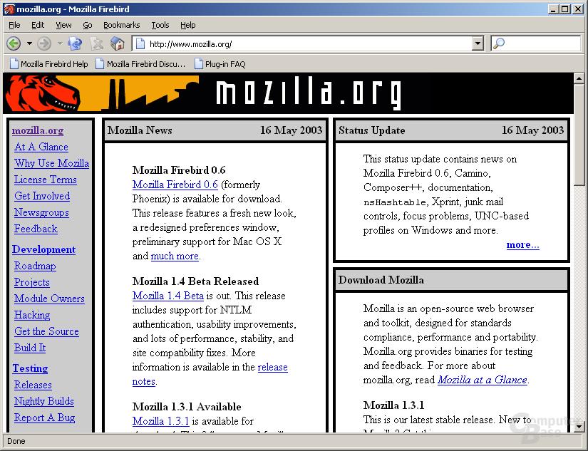 Mozilla FireBird 0.6