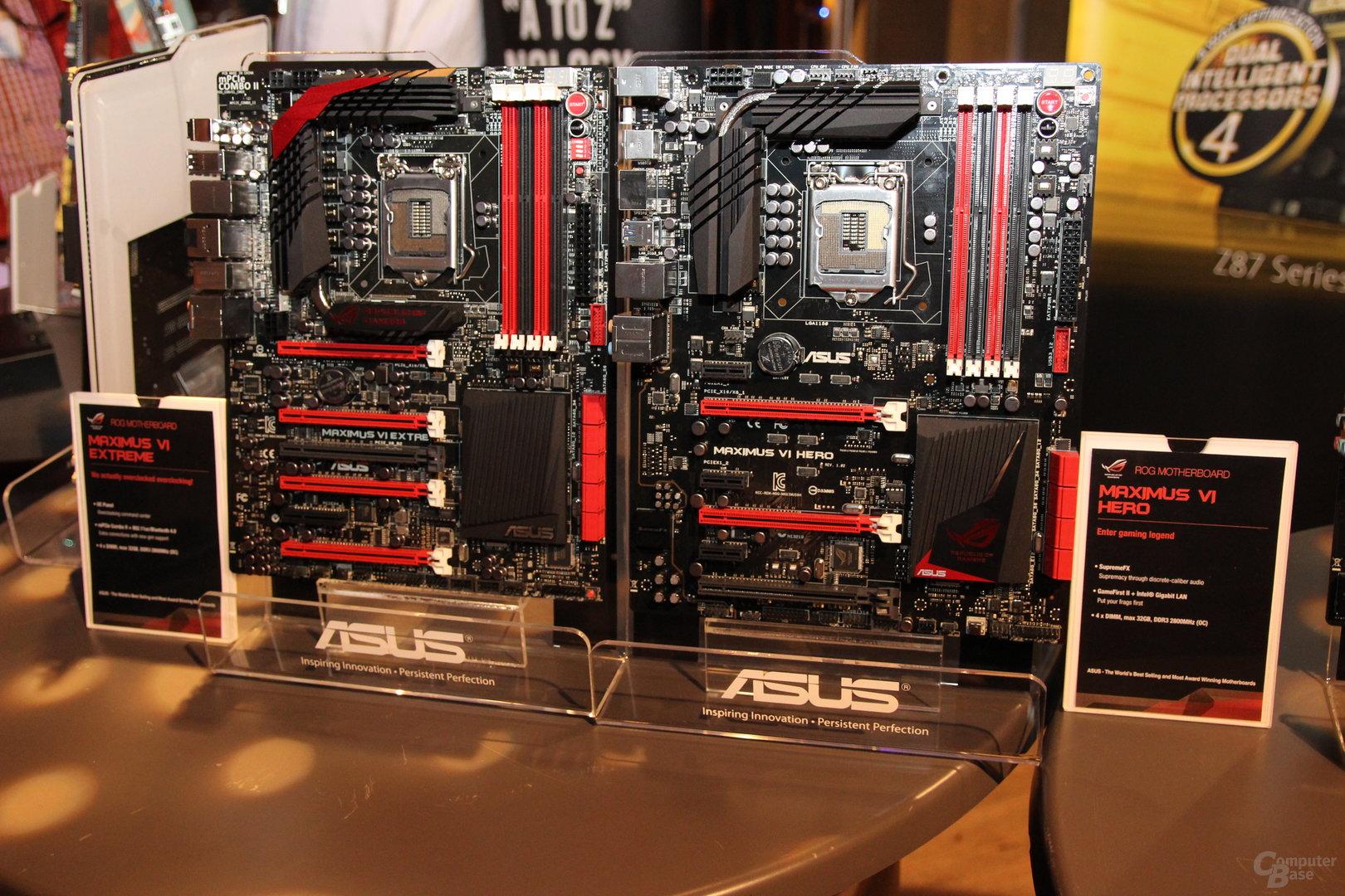 Asus ROG Maximus VI Extreme, Gene und Hero mit Z87-Chip